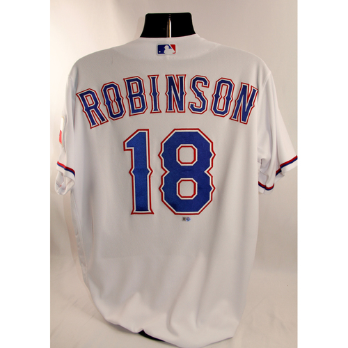 Photo of Game-Used White Jersey - Drew Robinson - 3/29/18