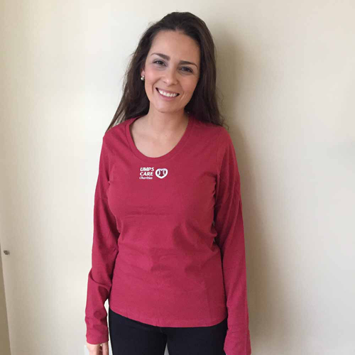 Photo of UMPS CARE AUCTION: UMPS CARE Women's Antigua Relax Scoopneck T-Shirt, Red, Size XL