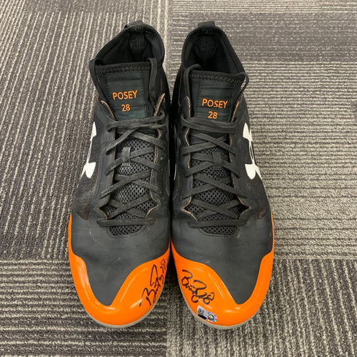 2017 Autographed Cleats - #28 Buster Posey - Size 11 1/2