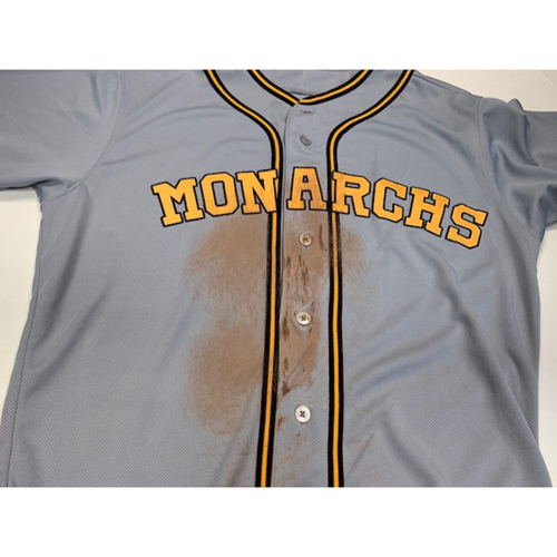 Photo of Game-Used Kansas City Monarchs Jersey 8-10-2019: Whit Merrifield