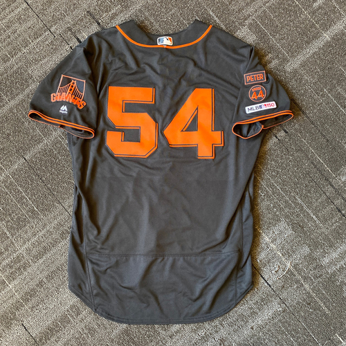 Photo of 2019 Team Issued Gigantes Black Home Alternate Jersey - #54 Reyes Moronta - Size 50