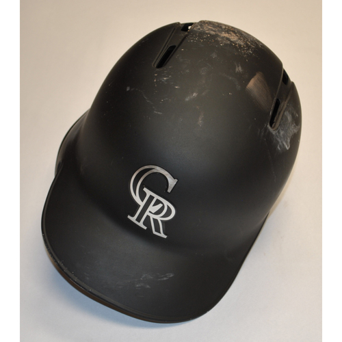 "Photo of Raimel ""EL FIFTY"" Tapia Colorado Rockies Team Issued 2019 Players' Weekend Helmet"
