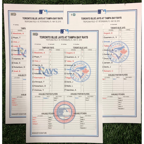 Photo of Replica LineUp Cards: May 27-29, 2019 v TOR