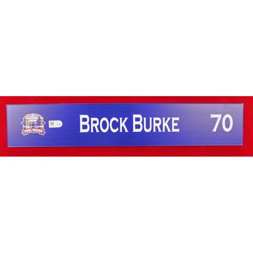 Photo of Final Season Game-Used Locker Tag - Brock Burke - 9/13/19 vs OAK