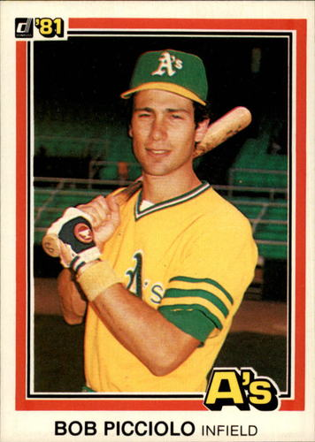 Photo of 1981 Donruss #357A Bob Picciolo P1 ERR/Name misspelled