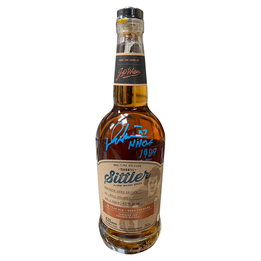 Darryl Sittler Autographed J.P. Wisers One-Time Release Alumni Series Whisky Bottle - Award Winning