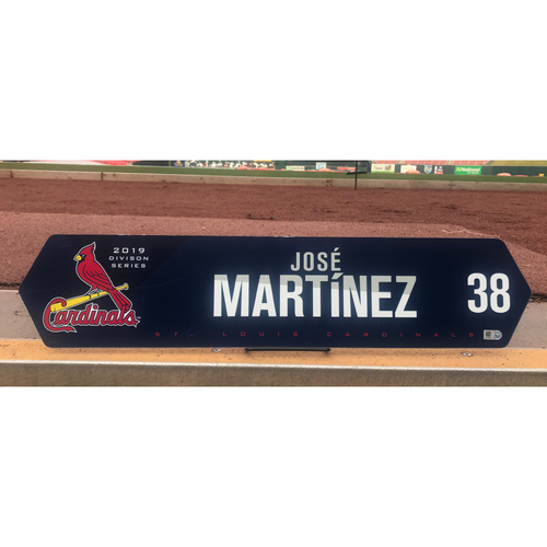 Cardinals Authentics: Jose Martinez Team Issued NLDS LockerTag