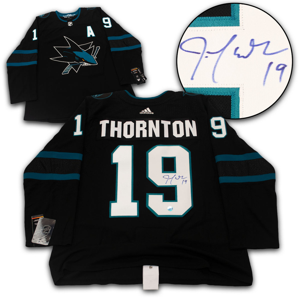 Joe Thornton San Jose Sharks Signed Alternate Adidas Authentic Hockey Jersey
