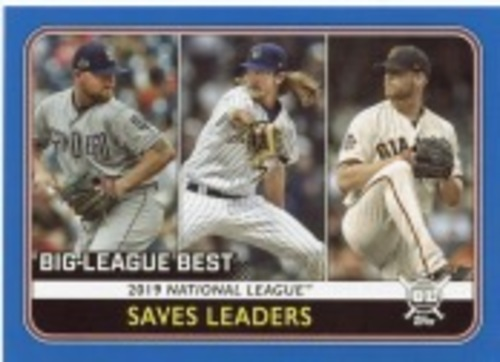 Photo of 2020 Topps Big League Blue #260 Will Smith/Josh Hader/Kirby Yates LL