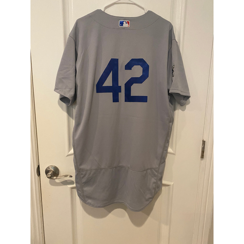 Photo of Cody Bellinger Authentic Game-Used Jersey from 8/28/20 Game @ TEX - Size  46