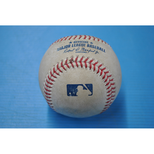 Photo of Game-Used Baseball - MIL at PIT - 8/21/2020 - Pitcher - Adrian Houser (MIL), Batter - Bryan Reynolds, Bot 2, Home Run