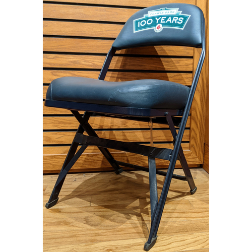 Photo of Fenway Park Visitor's Clubhouse Game Used Fenway 100 Locker Room Chair