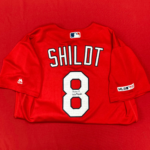 Photo of Mike Shildt Autographed Team-Issued Batting Practice Jersey (Size 44)