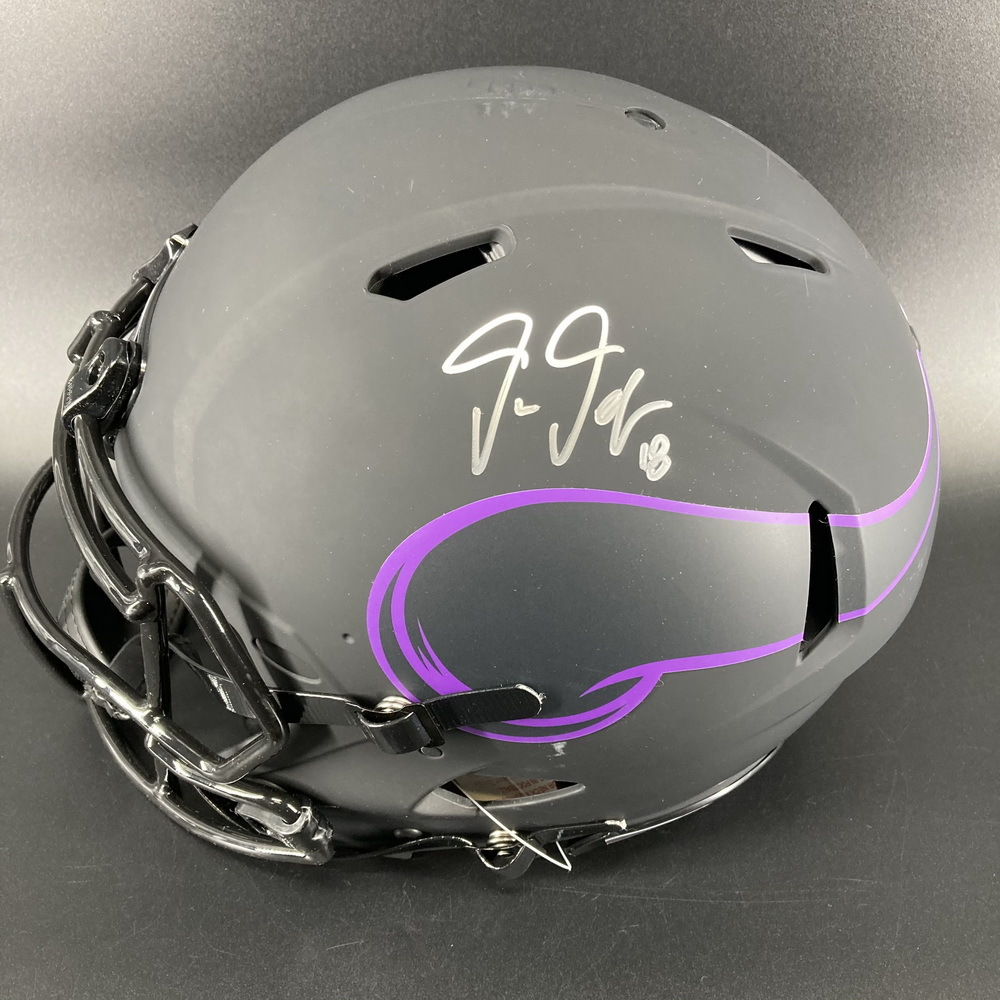NFL - Vikings Eclipse Helmet Signed by Justin Jefferson