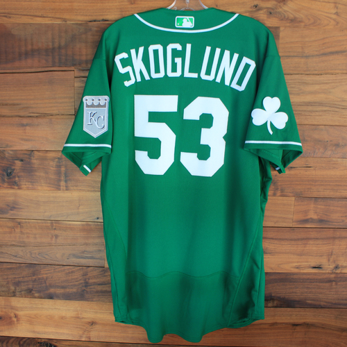 Photo of Team-Issued 2020 St. Patrick's Day Jersey: Eric Skoglund #53 - Size 48