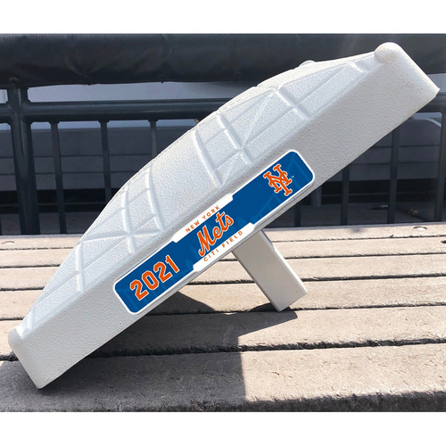 Photo of 2021 New York Mets Game-Used Base (April) - PRESALE: Choose your Game Date!