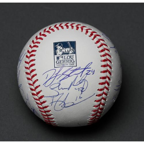 Lou Gehrig Commemorative Baseball - Autographed