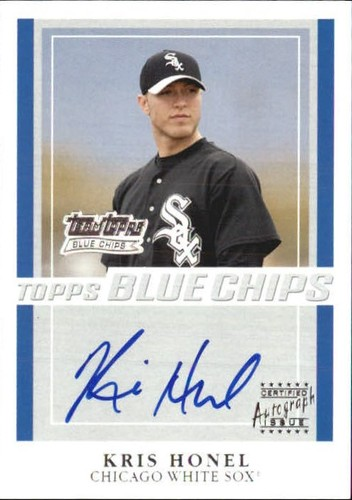 Photo of 2003 Topps Blue Chips Autographs #KH Kris Honel