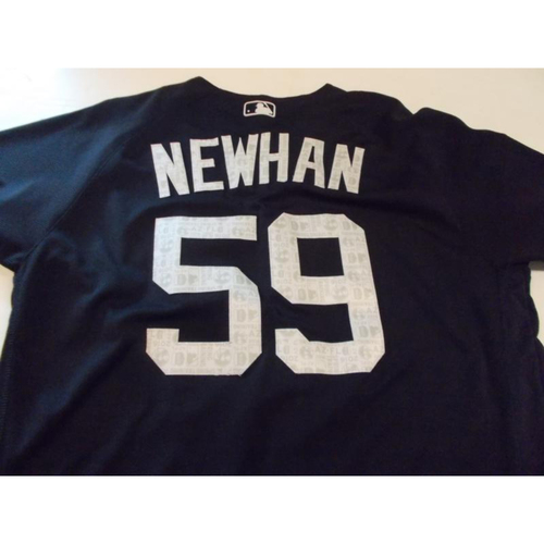Game-Used David Newhan 2016 Home Spring Training Jersey