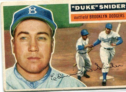 Photo of 1956 Topps #150 Duke Snider -- -- Hall of Famer