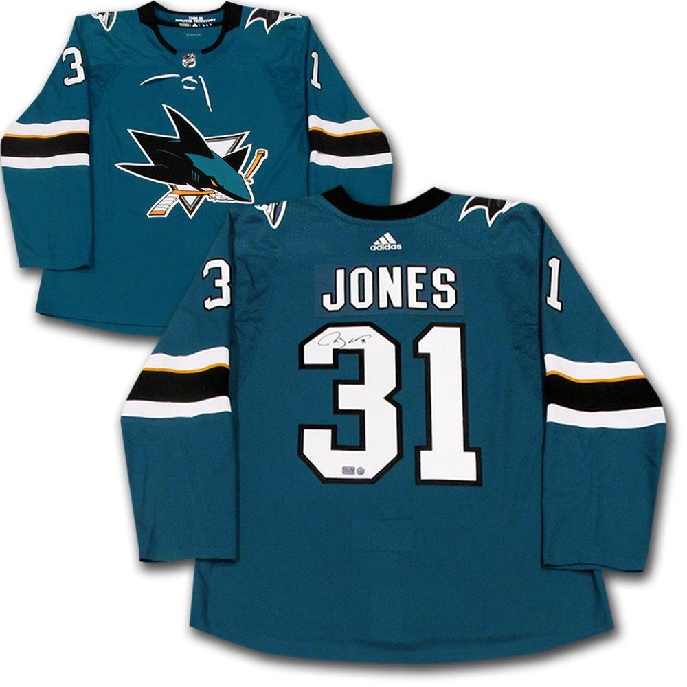 Martin Jones Autographed San Jose Sharks adidas Pro Jersey