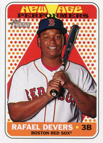 Photo of 2018 Topps Heritage New Age Performers #NAP21 Rafael Devers