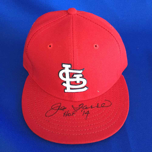 Photo of UMPS CARE AUCTION: Joe Torre HOF Signed Cardinals Cap - Size 7 1/4 - Not MLB Authenticated
