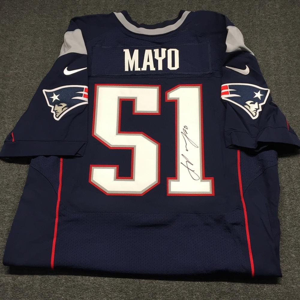 NFL Auction   Patriots - Jerod Mayo signed authentic Patriots ...