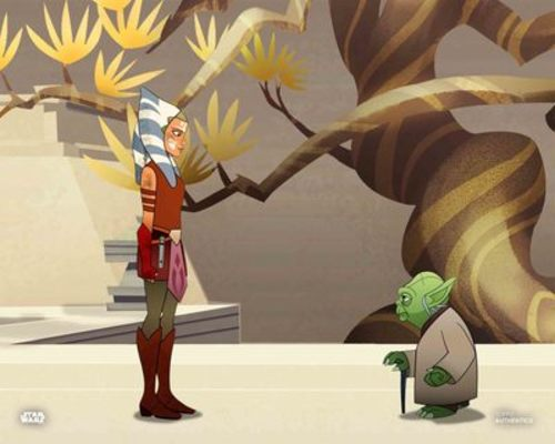 Ahsoka Tano and Yoda