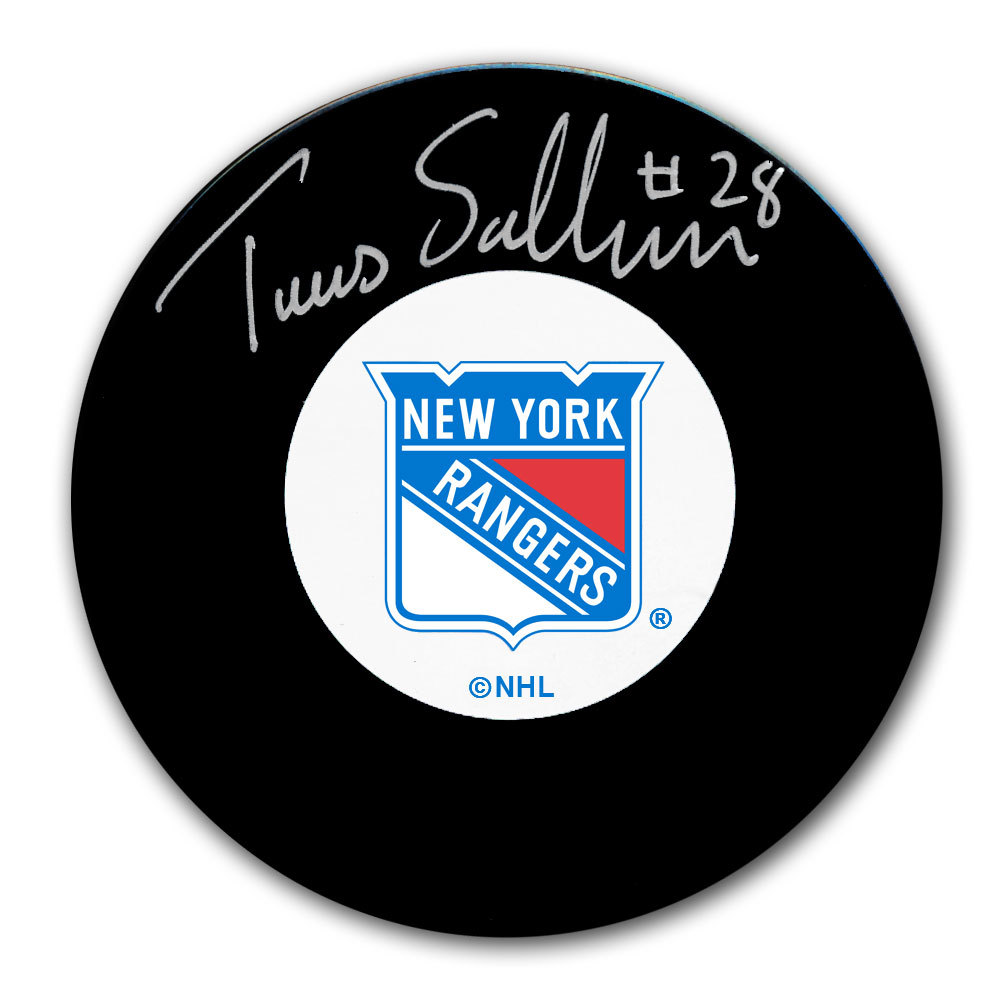 Tomas Sandstrom New York Rangers Autographed Puck