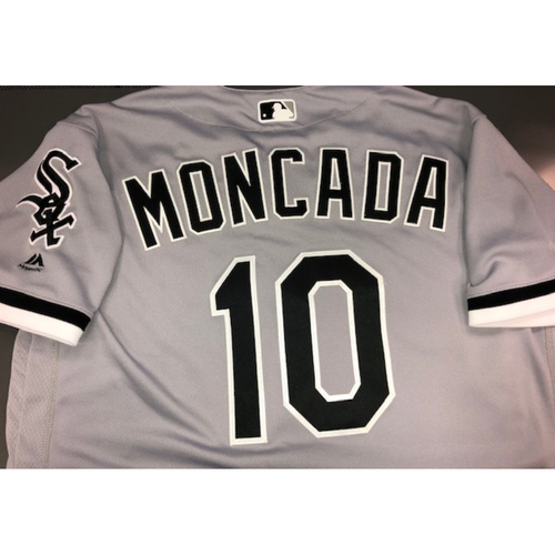 Photo of Yoan Moncada Team-Issued Grey Road Jersey