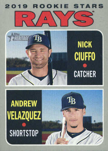 Photo of 2019 Topps Heritage #381 Andrew Velazquez RC/Nick Ciuffo RC