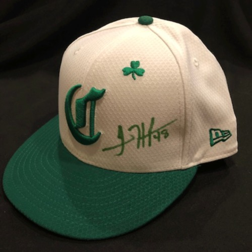 Photo of Jared Hughes -- Autographed & Game-Used Cap -- 2019 St. Patrick's Day