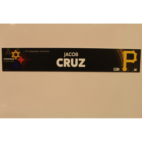 Photo of 2019 Game Used Locker Nameplate - Jacob Cruz