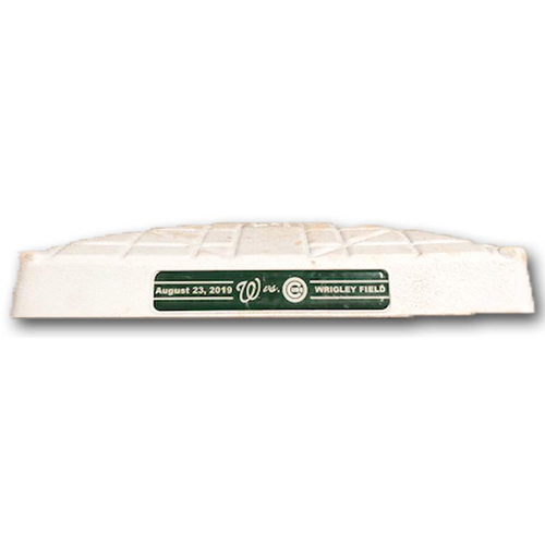 Photo of Game-Used 2nd Base -- Used in Innings 5 through 9 -- Nationals vs. Cubs -- 8/23/19