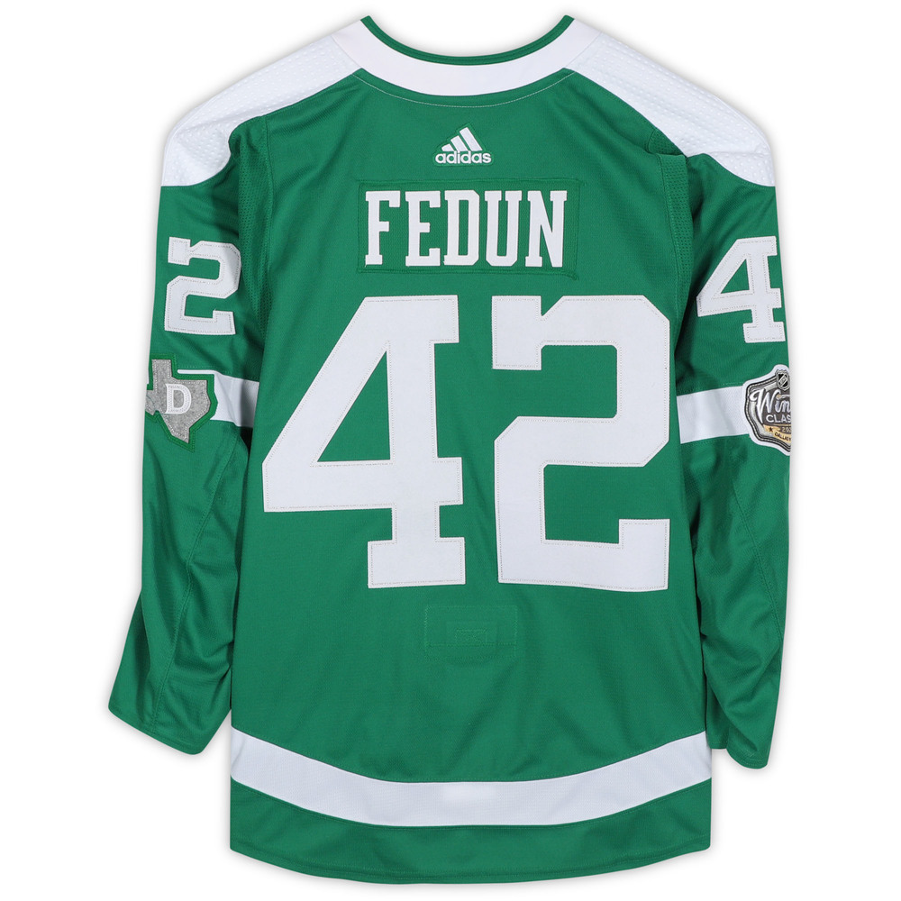 Taylor Fedun Dallas Stars Player-Issued 2020 NHL Winter Classic Jersey - Worn During First Period