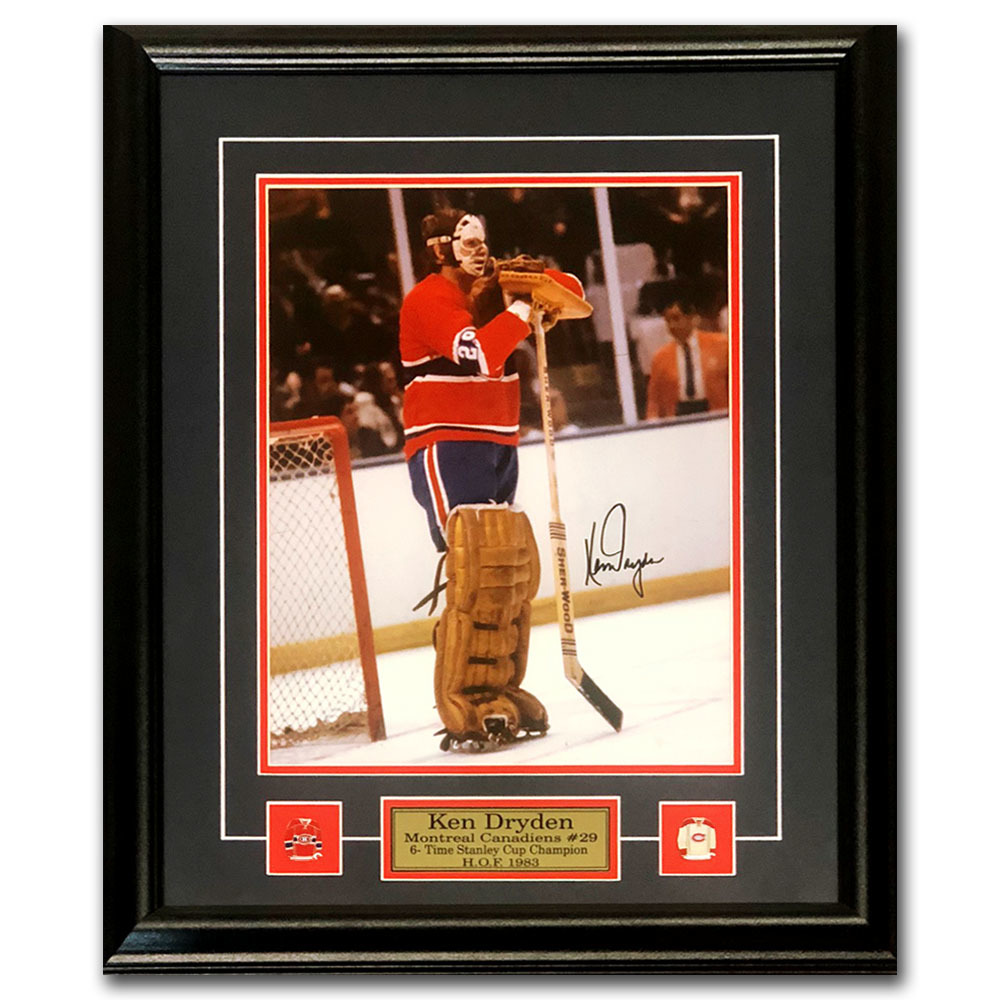 Ken Dryden Autographed Montreal Canadiens Framed 11X14 Photo