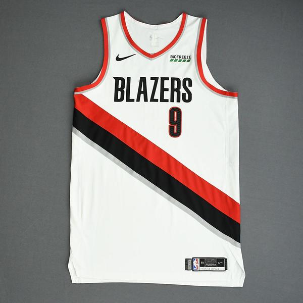 Image of Nassir Little - Portland Trail Blazers - Game-Worn Association Edition Rookie Debut Jersey - 2019-20 Season