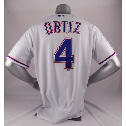 Photo of Final Season Game-Used White Jersey - Hector Ortiz - 5/18/19
