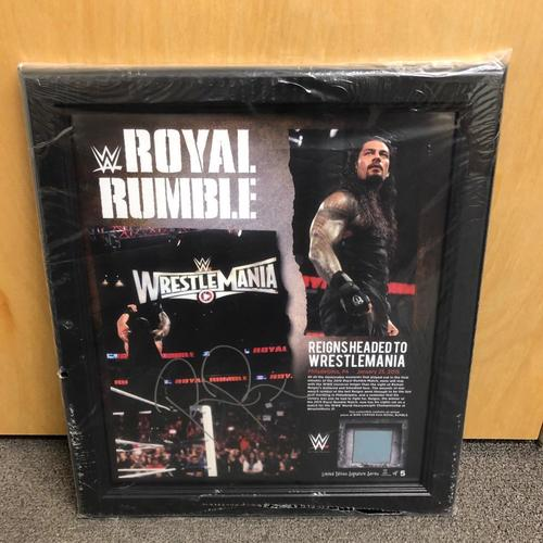 Photo of Roman Reigns SIGNED Signature Series Royal Rumble 2015 Plaque (#2 of 5)