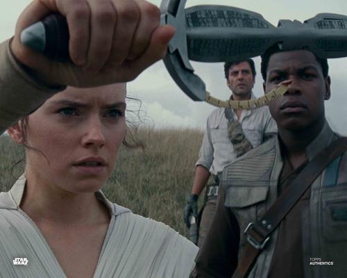 Rey, Poe Dameron and Finn