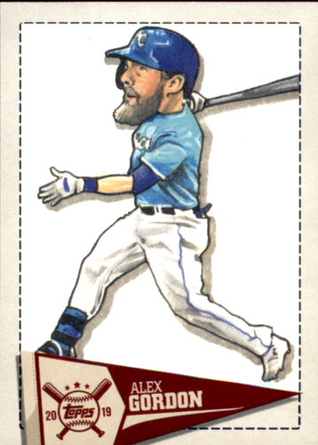 Photo of 2019 Topps Big League Star Caricature Reproductions #SCRAG Alex Gordon