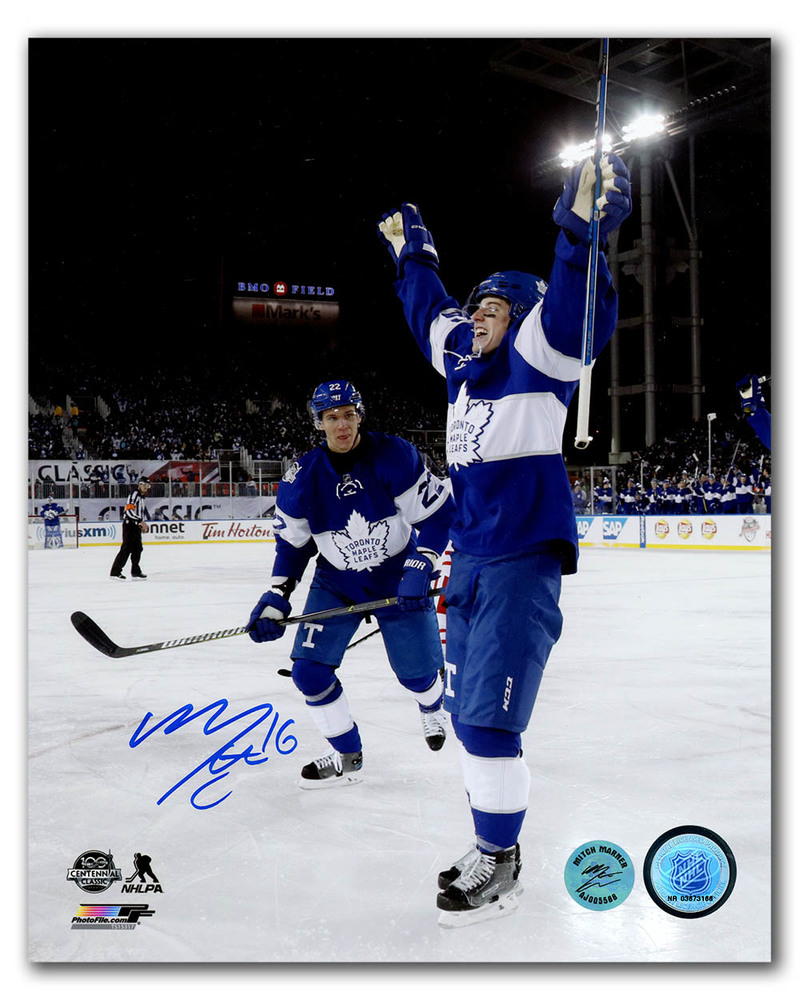 Mitch Marner Toronto Maple Leafs Signed 2017 Centennial Classic 8x10 Photo