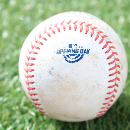 Photo of Game-Used Opening Day Baseball: Batter - Abreu, Pitcher - Bubic (Debut), Strike, Top 3 (7/31/20 CWS @ KC)