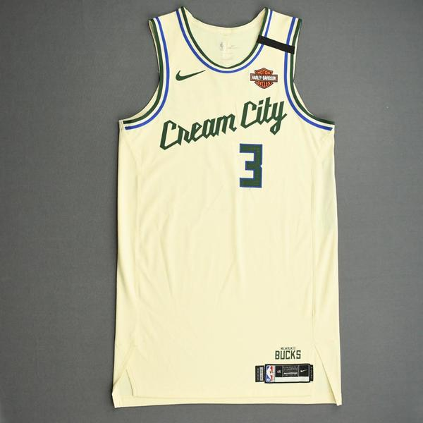 Image of George Hill - Milwaukee Bucks - Game-Worn City Edition Jersey - 2019-20 NBA Season Restart with Social Justice Message