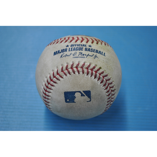 Photo of Game-Used Baseball - MIL at PIT - 8/21/2020 - Pitcher - Josh Lindblom (MIL), Batter - Gregory Polanco, Bot 2, Double