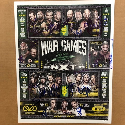 Photo of SIGNED and NUMBERED NXT TakeOver WarGames Fight Card (#1 of 100)
