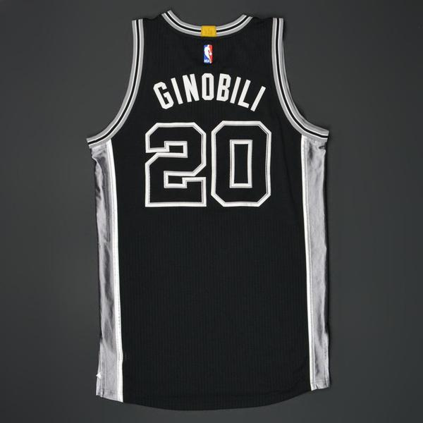outlet store sale 52cc2 ed1ce Manu Ginobili - San Antonio Spurs - Game-Worn Road 'Stretch ...