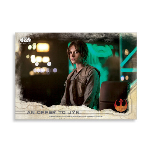 An offer to Jyn 2016 Star Wars Rogue One Series One Base Poster - # to 99