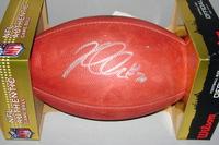 NFL - RAIDERS KELECHI OSEMELE SIGNED AUTHENTIC FOOTBALL (INK SPLATTER MARKS ON FOOTBALL)
